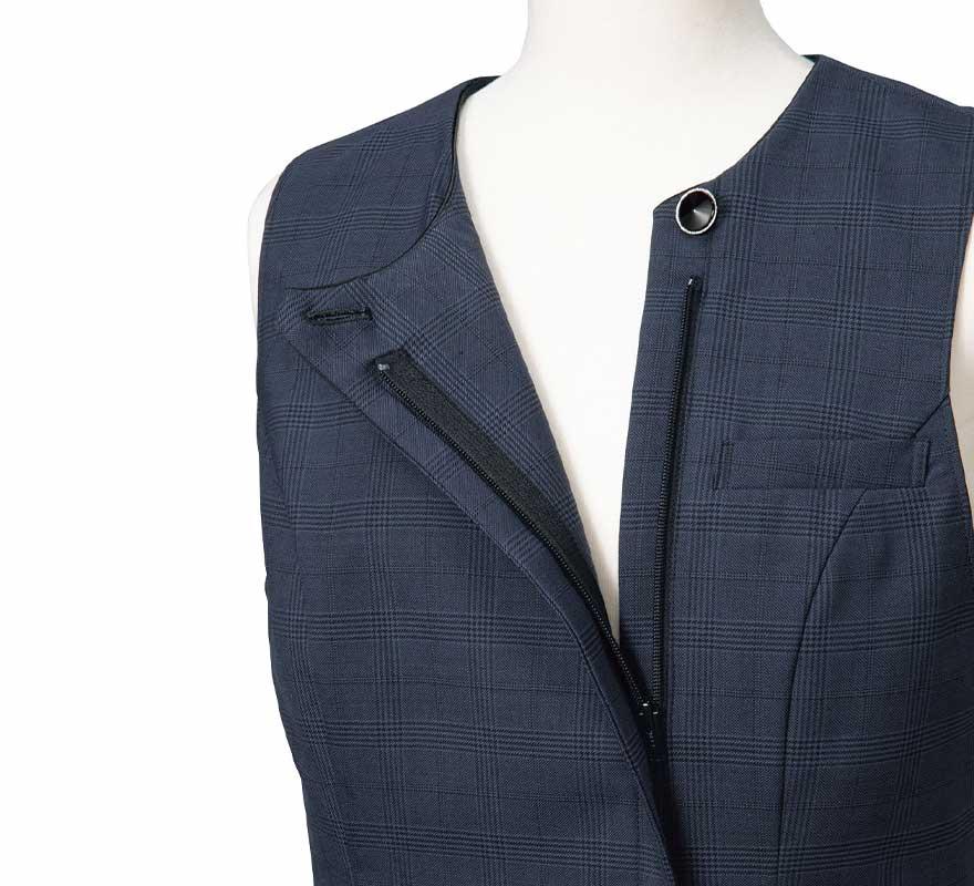 エイジレスに着られるクラシカルモダンな上品ベスト+スカートセット - FV36380/FS45950商品画像6