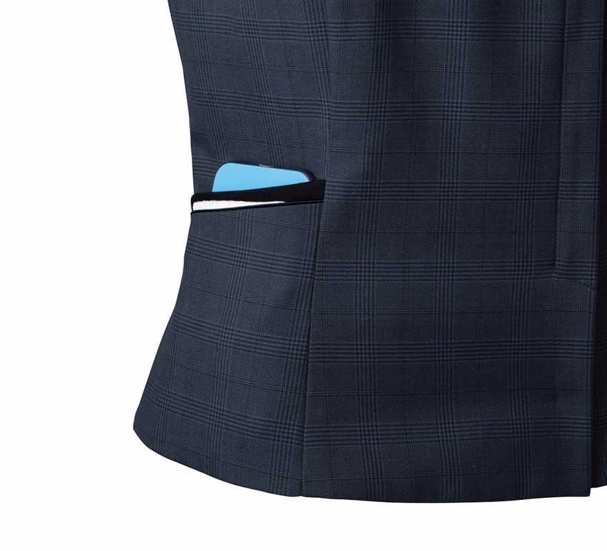 エイジレスに着られるクラシカルモダンな上品ベスト+スカートセット - FV36380/FS45950商品画像7