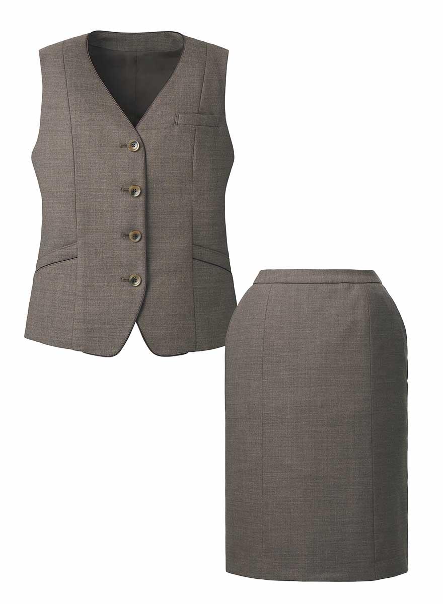 絶妙カラーであか抜けた印象のベスト+スカートセット- EAV821/EAS822商品画像6