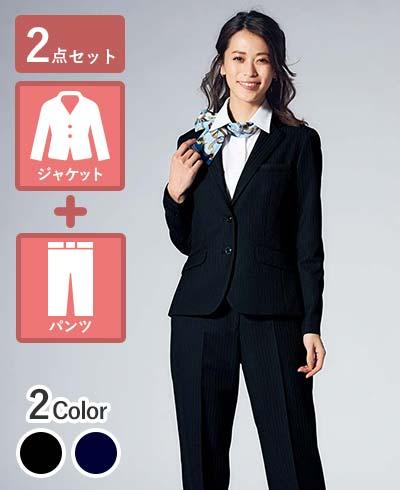裾上げ不要ですぐ着れる!きちんと&クール見えジャケット+パンツセット - AJ0273/AP6247