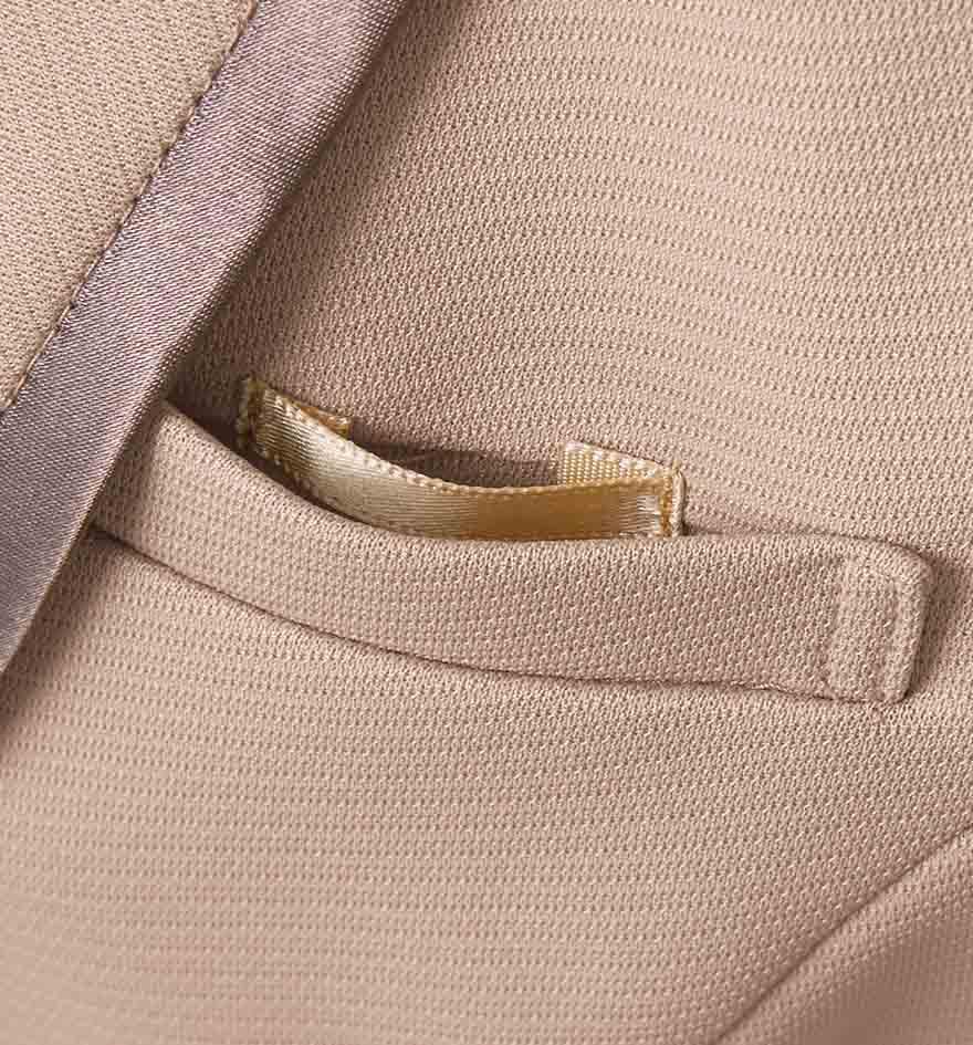 美しいドレープが魅力!ペプラムがアクセントのジャケット+スカートセット - 9185/9857商品画像3