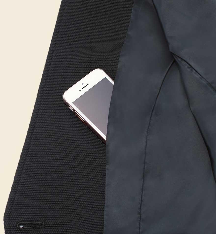 首まわりを美しく見せるスタンドカラーとVゾーンにこだわったジャケット+スカートセット - 9175/9851商品画像4
