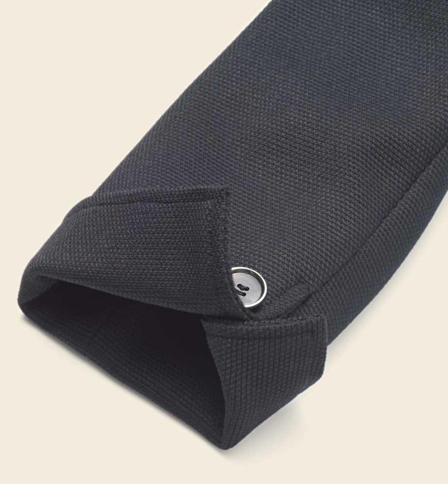 首まわりを美しく見せるスタンドカラーとVゾーンにこだわったジャケット+スカートセット - 9175/9851商品画像5